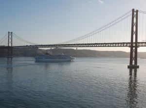 Oceana passing under the bridge