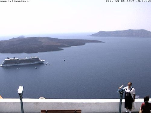 Solstice's first appearance at Santorini