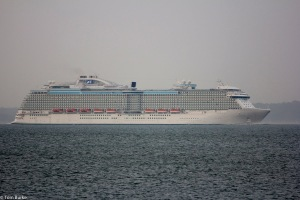 Royal Princess in the Solent June 2013