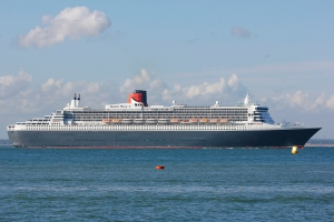 Queen Mary 2 off Cowes