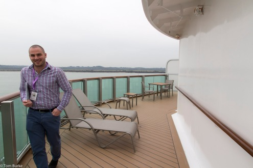 Aft suite balcony - B Deck only!